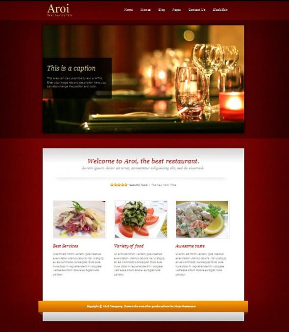 Aroi restaurant Theme by Mojo Themes