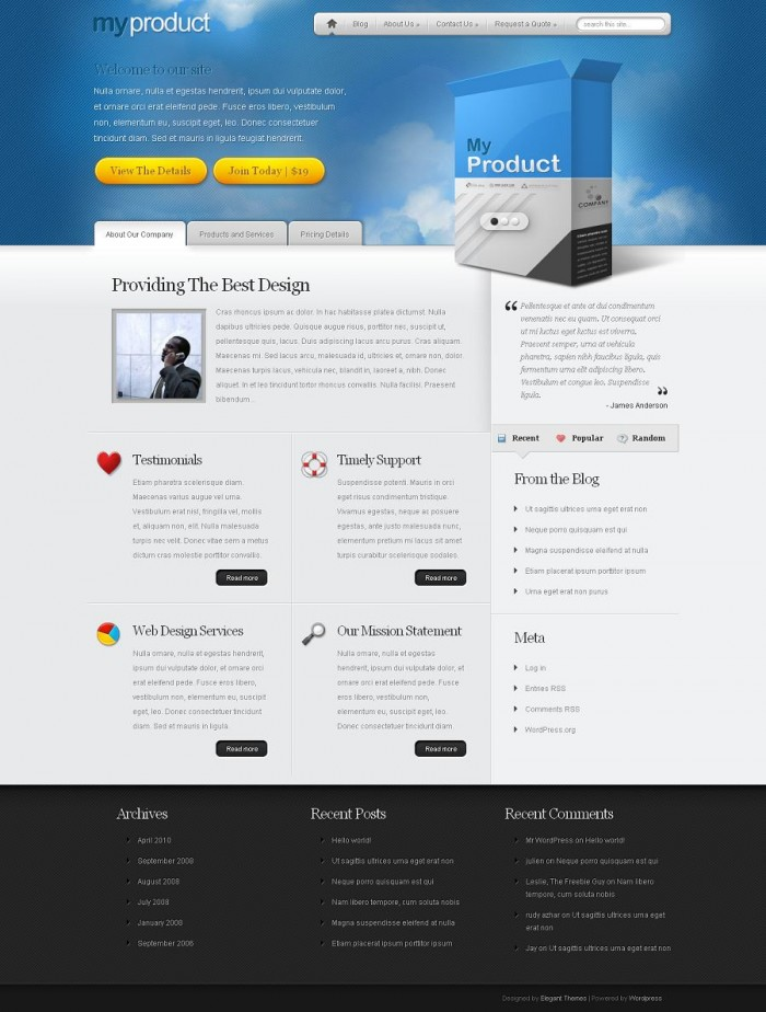 MyProduct-Elegant Themes